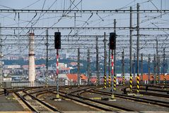 Bahnstrecken Stockfotografie