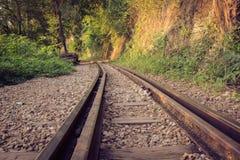 Bahnstrecken durch einen Wald und eine Landschaft, Thailand Stockbilder