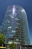 Bahntower, Hauptsitze von Deutsche Bahn in Berlin an Potsdam-Quadrat, Potsdamer Platz, Deutschland lizenzfreie stockbilder
