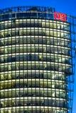 Bahntower, rascacielos en Potsdamer Platz en Berlín, Alemania Foto de archivo libre de regalías