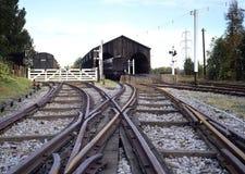 Bahnverzweigung Stockfotografie