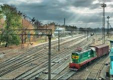 Bahnverzweigungsstation Lizenzfreies Stockfoto