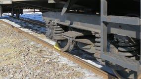 Bahnwagen im Parkplatz Stockbilder