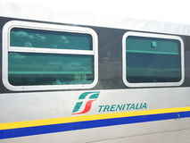 Bahnwagen Trenitalia, Detail Stockbild