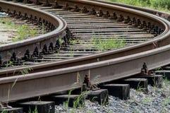 Bahnwegnahaufnahme Stockfoto