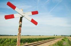 Bahnzeichen Stockfotos