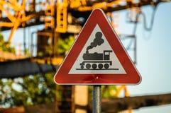 Bahnzeichen Stockfotografie