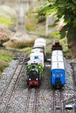 Bahnzugmodelleinrichtung Stockfotos