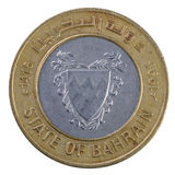 Bahrain 100 Fils coin. Bahrain 100 Fils brass and nickel coin Royalty Free Stock Photos