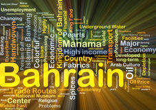 Bahrain background concept glowing Stock Photography
