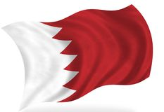 Bahrain. Flag, on the white stock illustration