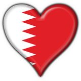 Bahrain button flag heart shape Royalty Free Stock Photo