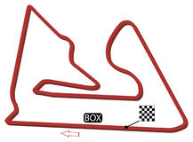 Bahrain circuit. The vector file of the circuit of Bahrain formula 1 stock illustration