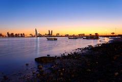 Bahrain coast. Taken during sunset Royalty Free Stock Photography