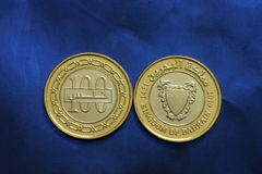 Bahrain coins currency Stock Photos