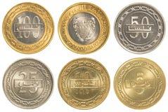 Bahrain-Dinar-Münzsammlungssatz Lizenzfreie Stockfotografie