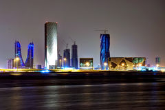 Bahrain financial harbour royalty free stock photos