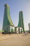 Bahrain Financial Harbour, Manama, Bahrain. Image of the Financial Harbour towers in the desert, Manama, Bahrain Stock Image