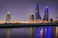 Bahrain financial harbour Royalty Free Stock Images
