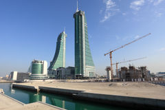 Bahrain Financial Harbour Skyscrapers in Manama Royalty Free Stock Image