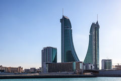 Bahrain Financial Harbour Towers Stock Photography