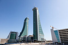 Bahrain Financial Harbour Towers Stock Image