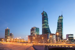Bahrain Financial Harbour Towers Royalty Free Stock Photo