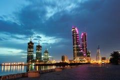 Bahrain finansiell hamn Arkivbilder