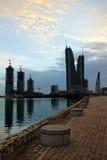 Bahrain finansiell hamn Fotografering för Bildbyråer