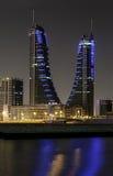 bahrain finansiell hamn Arkivfoto