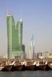 bahrain finansiell hamn manama Royaltyfri Foto