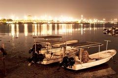 Bahrain-Fischen-Fort nachts Lizenzfreies Stockfoto