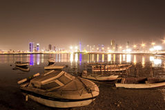 Bahrain Fishing Fort at Night Royalty Free Stock Photos