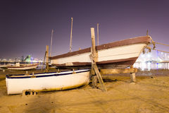 Bahrain Fishing Fort at Night Royalty Free Stock Images