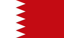 Bahrain Flag, official colors and proportion correctly. Flag vector. Bahrain Flag vector background Stock Illustration
