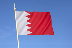 bahrain flagga Arkivfoto