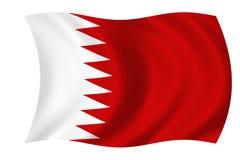 bahrain flagga Arkivbild