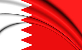 bahrain flagga stock illustrationer