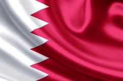 Bahrain flaggaillustration stock illustrationer