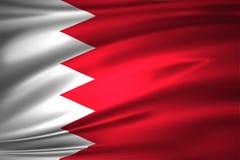 Bahrain flaggaillustration vektor illustrationer