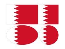 Bahrain flaggor - kungarike av Bahrain vektor illustrationer