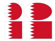 Bahrain flaggor - kungarike av Bahrain royaltyfri illustrationer