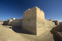 Bahrain fort in blue day Stock Image