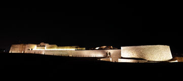 Bahrain fort at night Royalty Free Stock Images