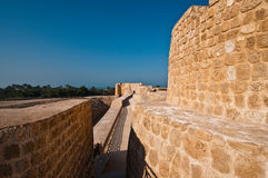 Bahrain Fort/Qal'at Al Bahrain. Bahrain Fort or also known as Qal'at Al-Bahrain is an archaeological site and it was once the capital of the Dilmun civilization Royalty Free Stock Photos