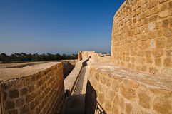 Bahrain Fort/Qal'at Al Bahrain. Bahrain Fort or also known as Qal'at Al-Bahrain is an archaeological site and it was once the capital of the Dilmun civilization Stock Photo