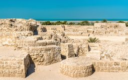 Bahrain Fort or Qal`at al-Bahrain. A UNESCO World Heritage Site. In the Middle East Royalty Free Stock Photo