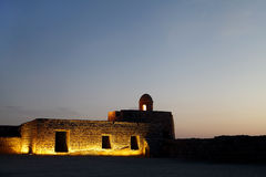 Bahrain fort at sunset Stock Photography