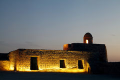 Bahrain fort watch tower Stock Photos