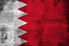 Bahrain. Grunge and dirty flag illustration. Perfect for background or texture purposes royalty free illustration